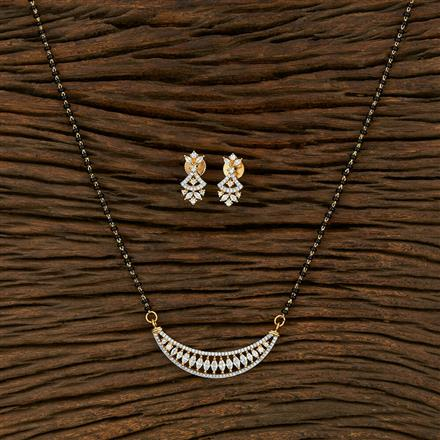 414888 Cz Classic Mangalsutra With 2 Tone Plating