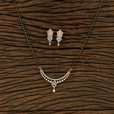 414889 Cz Classic Mangalsutra With 2 Tone Plating