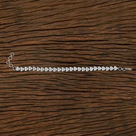 414904 Cz Classic Bracelet With Rhodium Plating