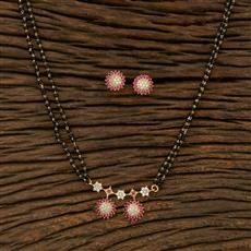 414925 Cz Classic Mangalsutra With Gold Plating