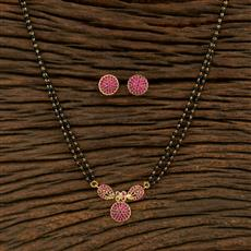 414926 Cz Classic Mangalsutra With Gold Plating
