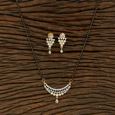414931 Cz Classic Mangalsutra With 2 Tone Plating