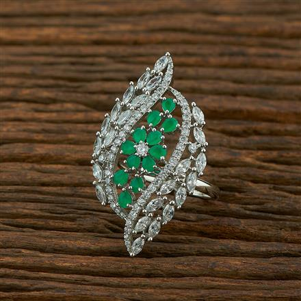 414937 Cz Classic Ring With Rhodium Plating
