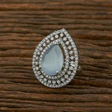 414940 Cz Classic Ring With Rhodium Plating