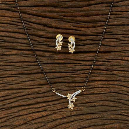 414969 Cz Classic Mangalsutra With 2 Tone Plating