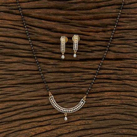 414972 Cz Classic Mangalsutra With 2 Tone Plating