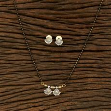 414973 Cz Classic Mangalsutra With 2 Tone Plating