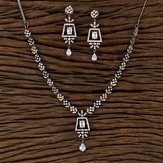 414981 Cz Classic Necklace With Black Rose Plating