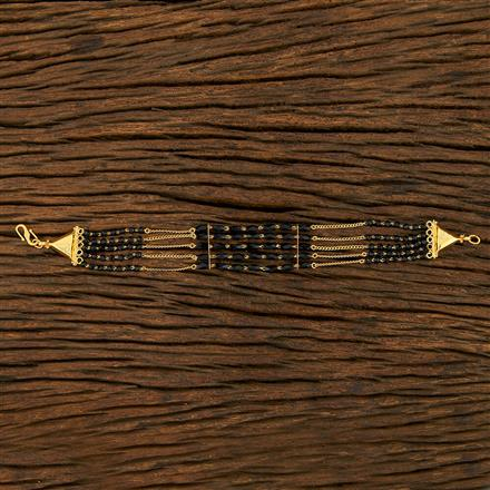 415070 Cz Hand Mangalsutra Bracelet With Gold Plating