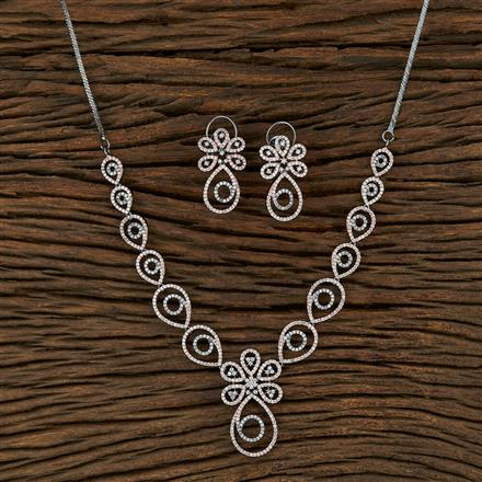 415072 Cz Classic Necklace With Black Rose Plating