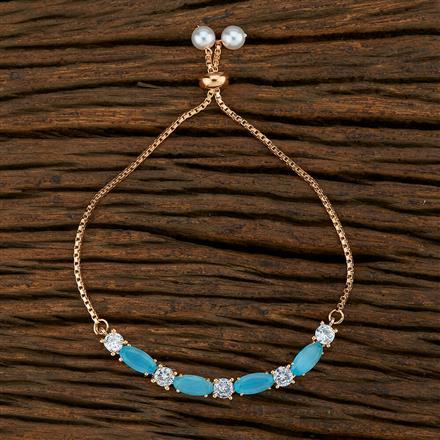 415121 Cz Adjustable Bracelet With Rose Gold Plating