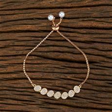415122 Cz Adjustable Bracelet With Rose Gold Plating