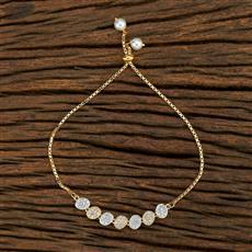 415124 Cz Adjustable Bracelet With 2 Tone Plating