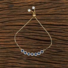 415172 Cz Adjustable Bracelet With Gold Plating