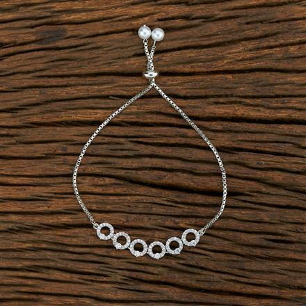415175 Cz Adjustable Bracelet With Rhodium Plating