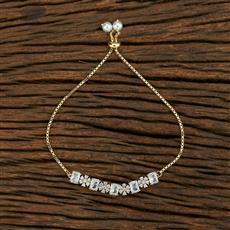 415182 Cz Adjustable Bracelet With 2 Tone Plating