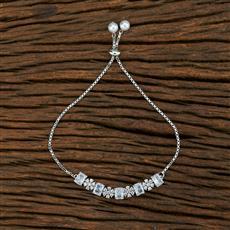 415184 Cz Adjustable Bracelet With Rhodium Plating
