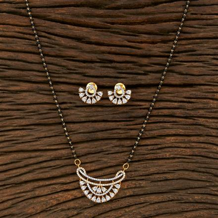 415206 Cz Classic Mangalsutra With 2 Tone Plating