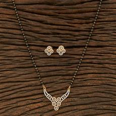 415207 Cz Classic Mangalsutra With 2 Tone Plating
