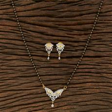 415214 Cz Classic Mangalsutra With 2 Tone Plating
