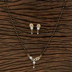 415215 Cz Classic Mangalsutra With 2 Tone Plating