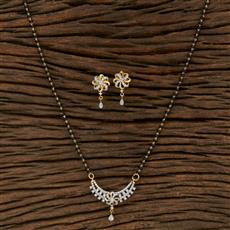 415216 Cz Classic Mangalsutra With 2 Tone Plating