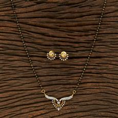 415217 Cz Classic Mangalsutra With 2 Tone Plating