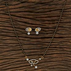 415218 Cz Classic Mangalsutra With 2 Tone Plating