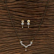 415219 Cz Classic Mangalsutra With 2 Tone Plating