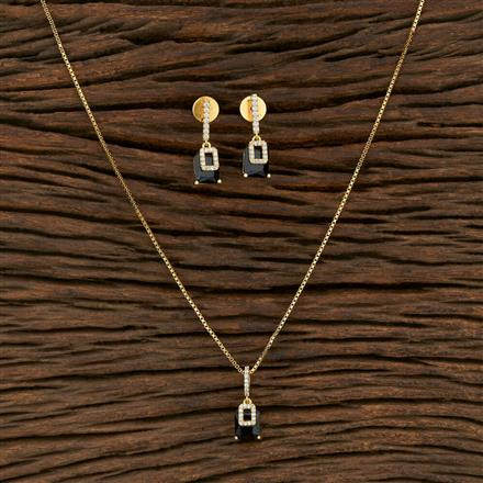 415234 Cz Delicate Pendant Set With Gold Plating