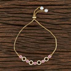 415236 Cz Adjustable Bracelet With Gold Plating