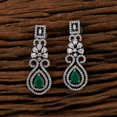 415246 Cz Classic Earring With Black Plating