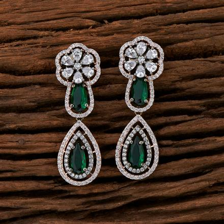 415248 Cz Classic Earring With Black Rose Plating