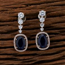415250 Cz Classic Earring With Black Rose Plating