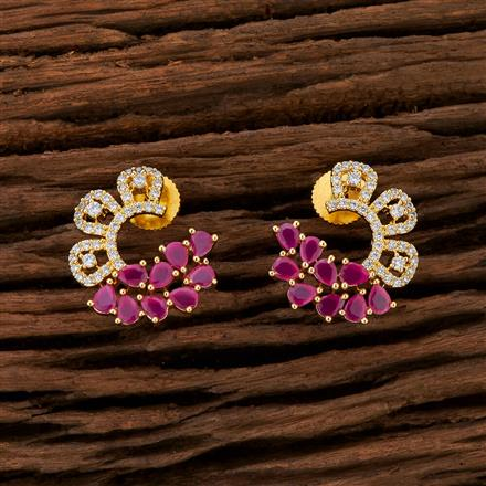 415252 Cz Chand Earring With Gold Plating
