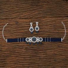 415258 Cz Mala Necklace With Rhodium Plating