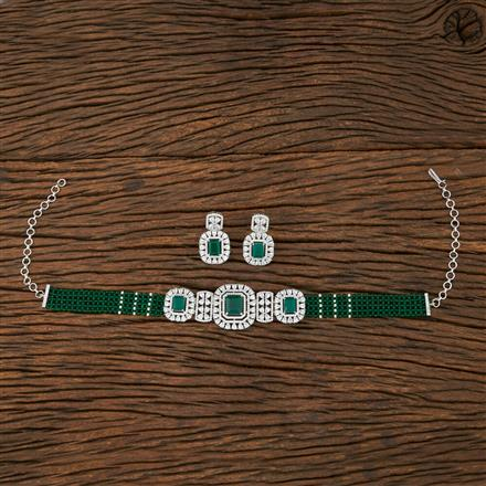 415260 Cz Mala Necklace With Rhodium Plating