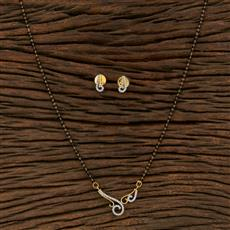 415269 Cz Classic Mangalsutra With 2 Tone Plating