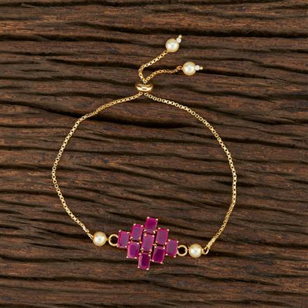 415292 Cz Adjustable Bracelet With Gold Plating