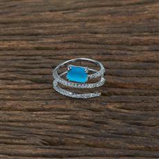 415359 Cz Classic Ring With Rhodium Plating