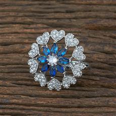 415364 Cz Classic Ring With Rhodium Plating