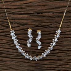 415367 Cz Classic Necklace With 2 Tone Plating