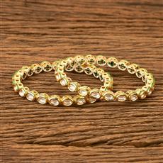 41537 Kundan Classic Bangles with gold plating