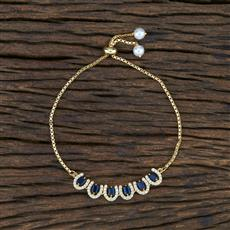 415380 Cz Adjustable Bracelet With Gold Plating