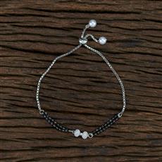 415385 Cz Hand Mangalsutra Bracelet With Rhodium Plating