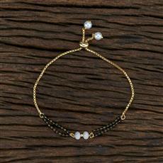 415386 Cz Hand Mangalsutra Bracelet With 2 Tone Plating