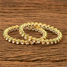 41538 Kundan Classic Bangles with gold plating