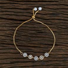 415393 Cz Adjustable Bracelet With 2 Tone Plating