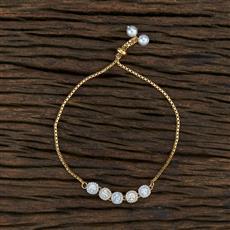 415396 Cz Adjustable Bracelet With 2 Tone Plating