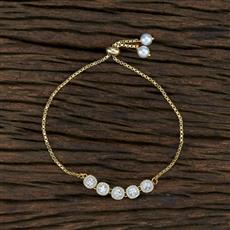 415397 Cz Adjustable Bracelet With Gold Plating